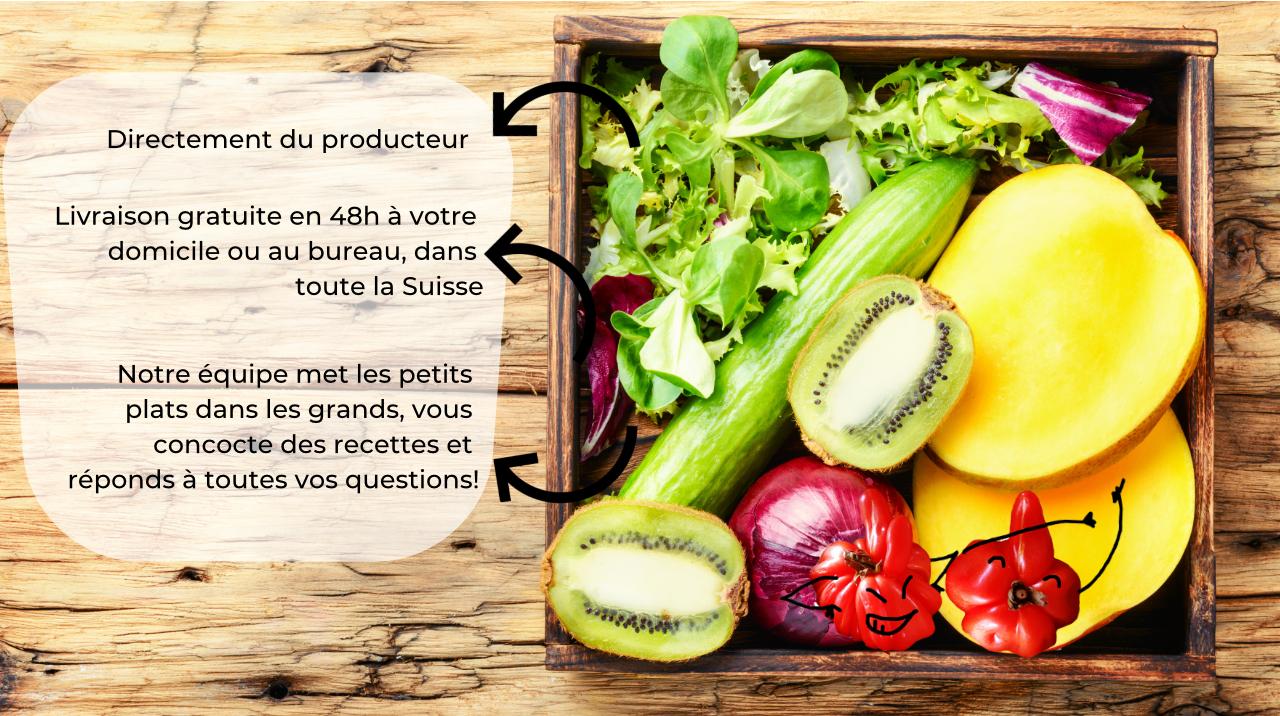 Croquez des fruits et des légumes bio, frais, parfois moches, mais